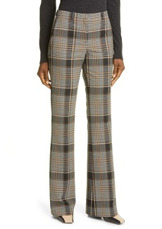 Theory Demitria Becket Plaid Trousers