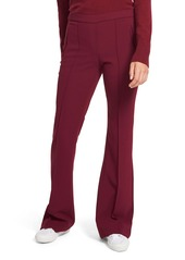 Theory Demitria Pintuck Flare Pull-On Wool Blend Pants