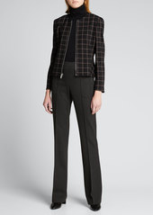 Theory Demitria Pull-On Flare-Leg Pant