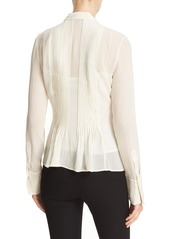 Theory 'Dionelle' Pintuck Pleat Textured Chiffon Blouse