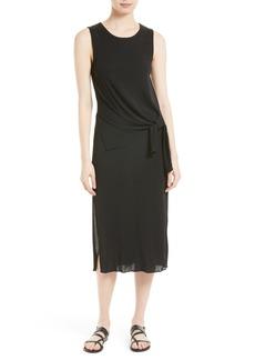 Theory Dorotea K Tie Front Cotton Interlock Dress
