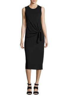 Theory Dorotea K Tie-Waist Cotton Midi Dress