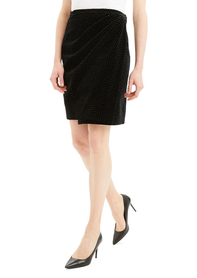 Theory Dot Pleated Wrap Skirt