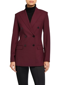 Theory Double-Breasted Tailored Jacket