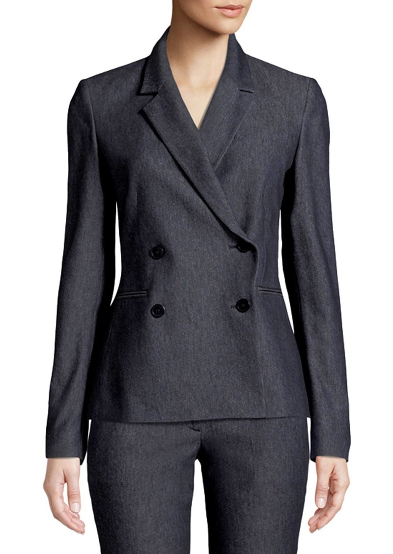 Theory Double-Breasted Twill Blazer