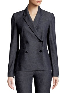 fd0c1639120 SALE! Theory Crunch Linen Double-Breasted Blazer