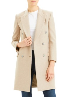 Theory Double Breasted Wool Coat