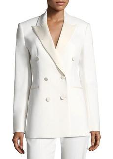 Theory Double-Breasted Wool Tuxedo Blazer