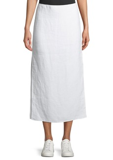 Theory Double-Face Linen Slit Skirt