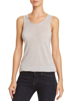 Theory Double-Trim Cashmere Tank