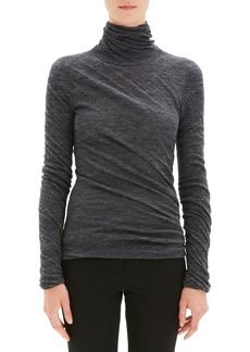 Theory Draped Turtleneck Top