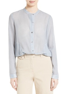 Theory Drawstring Cotton Blouse