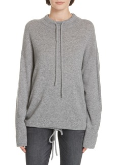 Theory Drawstring Detail Cashmere Sweater