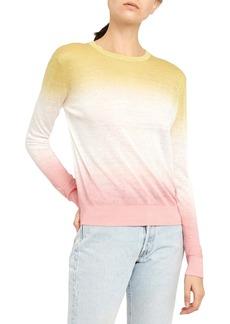 Theory Dual Ombré Linen Blend Sweater