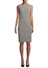 Theory Eano Benton Sleeveless Tweed Sheath Dress