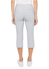 Theory Easy Check Stretch Cotton Capri Pants