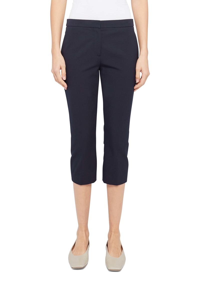 Theory Easy Cotton Blend Capri Pants