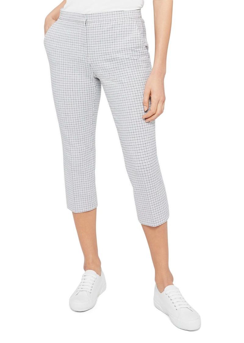 Theory Easy Grid Print Capri Pants