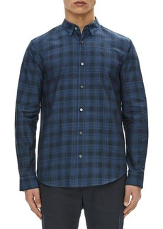 Theory Edward Micro-Stone Plaid Sport Shirt