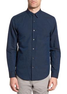 Theory Edward Regular Fit Linen & Cotton Sport Shirt