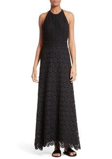 Theory Elizabetha Lace Maxi Dress