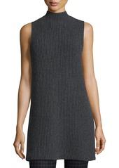 Theory Embree Charmant Mock-Neck Sleeveless Sweater