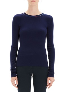 1cce0d010e Theory Embroidered Long-Sleeve Wool Sweater