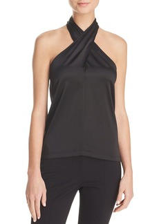 Theory Ertil Stretch-Silk Halter Top