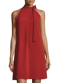Theory Espere Admiral Tie-Neck A-line Dress