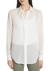 Theory Essential Button-Down Cotton Shirt