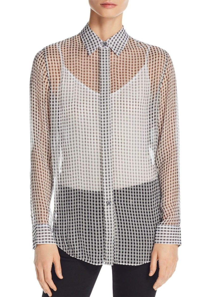 9030b672ee4af On Sale today! Theory Theory Essential Sheer Silk Shirt
