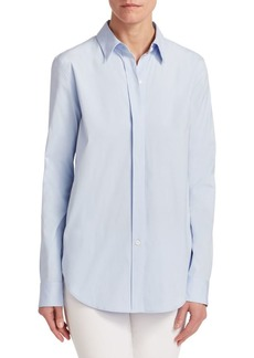 Theory Essential Stretch Cotton Button-Down Shirt