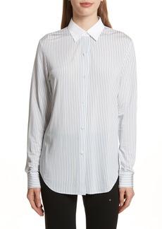Theory Essential Stripe Jersey Shirt