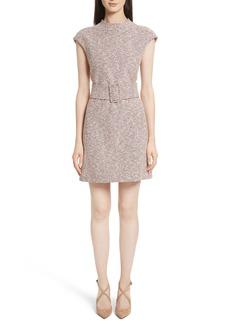 Theory Fancy Tweed Mod Belt Dress