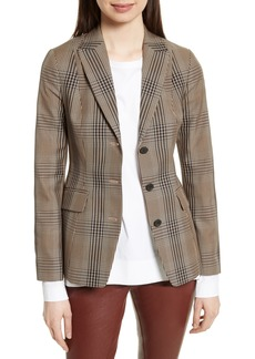 Theory Faringdon Check Riding Jacket
