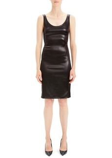 Theory Faux Leather Sheath