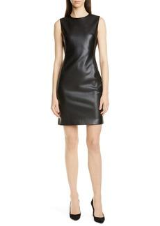 Theory Faux Leather Sheath Dress