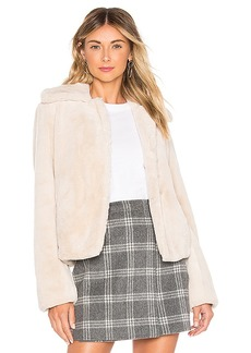 Theory Faux Rabbit Luxe Jacket