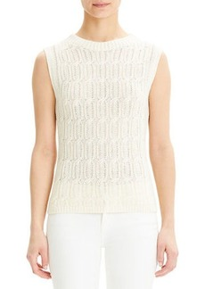 Theory Fitted Cable-Knit Shell