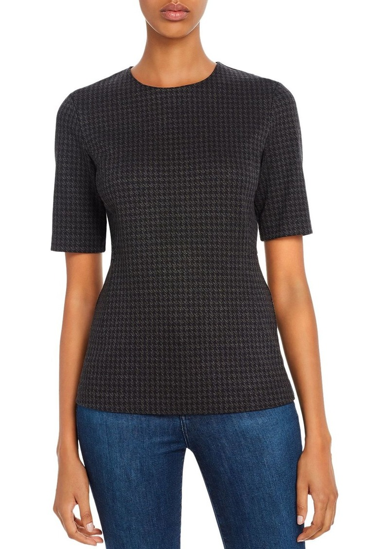 Theory Fitted Houndstooth Top