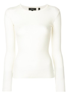 Theory fitted round neck top