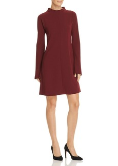 Theory Flared-Sleeve Crepe Dress
