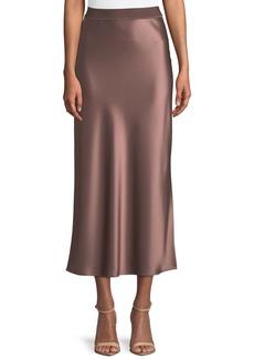 Theory Flat-Sateen A-Line Maxi Slip Skirt