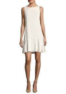 Theory Flirty Flare A-line Kensington Crepe Dress
