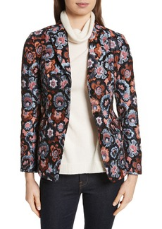 Theory Floral Jacquard Riding Jacket