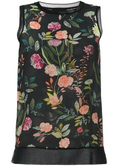 Theory floral print top - Black