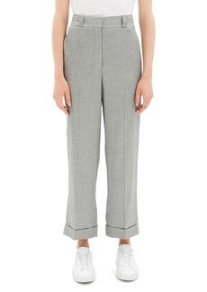 Theory Fluid Melange Straight Cuffed Pants