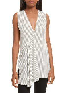 Theory Fluid Pinstripe Silk Top