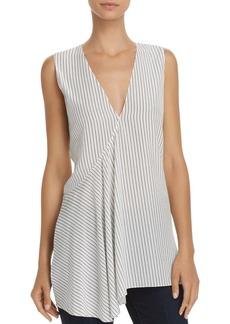 Theory Fluid Pinstriped Silk Tank