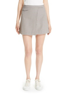 Theory Fremont Plaid Miniskirt
